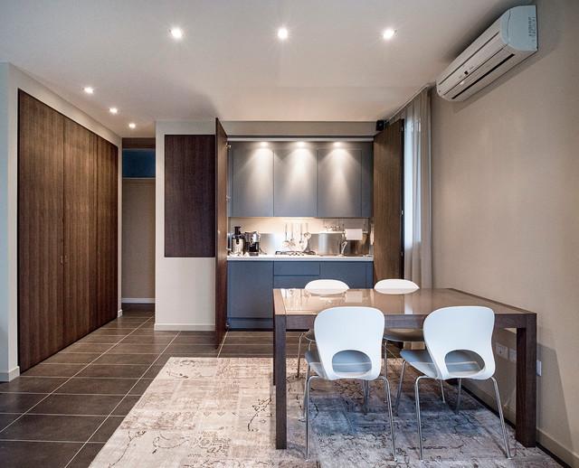 Open space con cucina a scomparsa