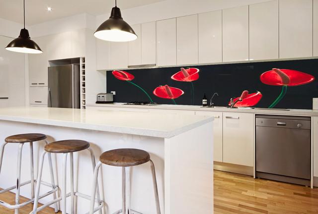Pannello per retro cucina in vetro stampato - Contemporaneo - Cucina ...