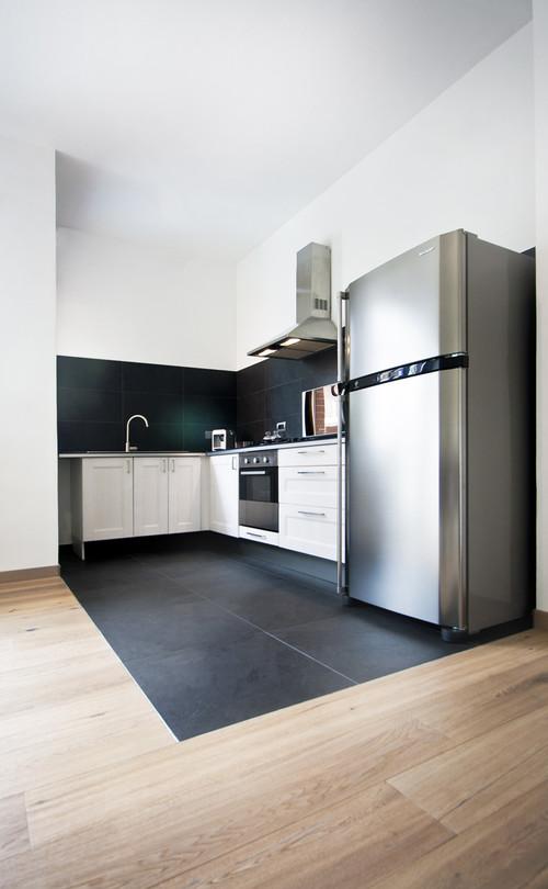 Cucine Moderne Con Frigo Esterno.Qual E La Posizione Ottimale Del Frigorifero In Cucina