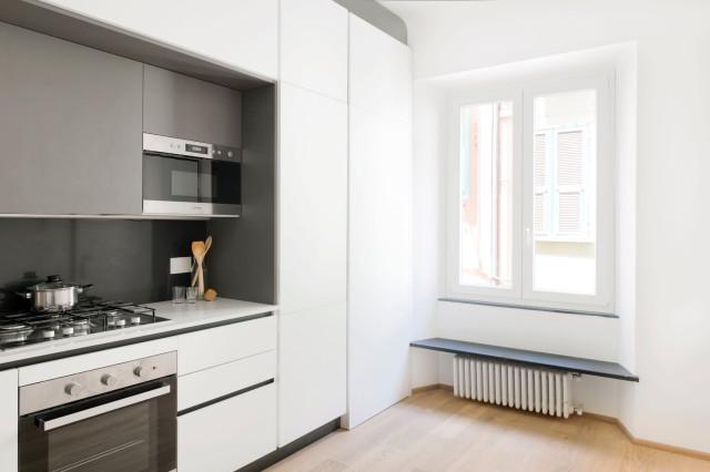 Parete Funzionale Con Cucina Modern Kuche Sonstige Von Llabb Houzz