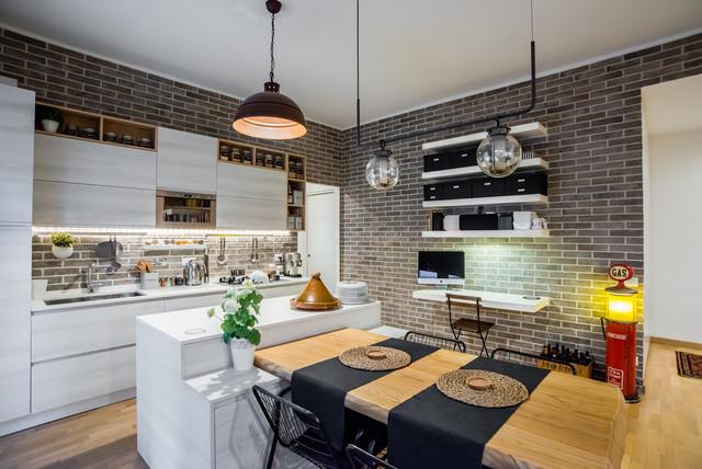 Ristrutturazione Appartamento 60 Mq Roma Industrial Kitchen