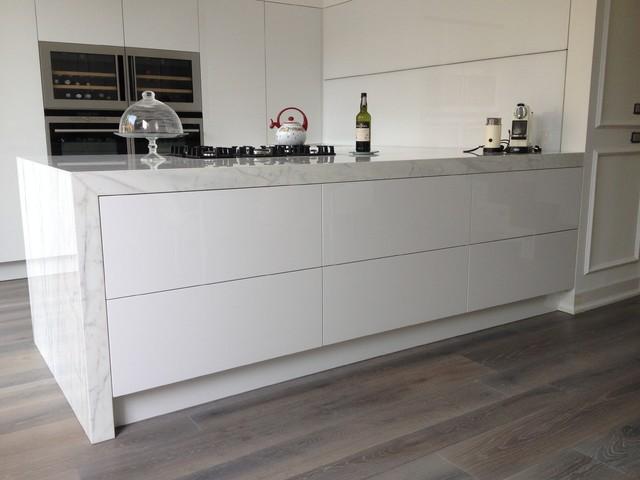 Cucina Total White Con Isola Interior Design