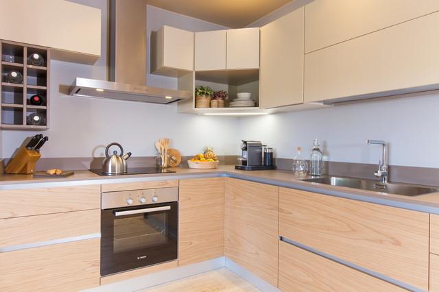 Soggiorno Design con Cucina a Vista - Contemporáneo - Cocina ...