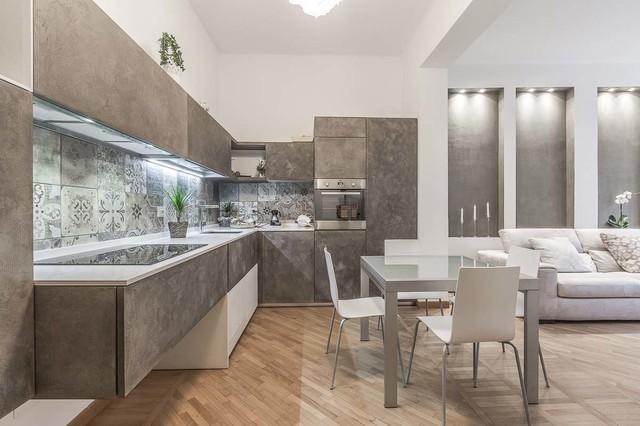 Soggiorno Open space - Contemporaneo - Cucina - Roma - di ...