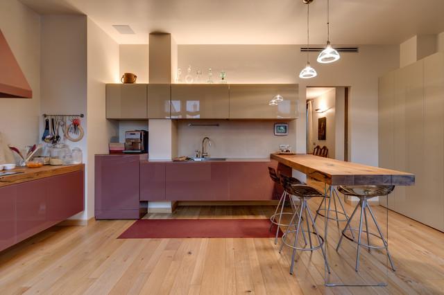 Un attico di luce contemporary kitchen milan by for Mav arreda