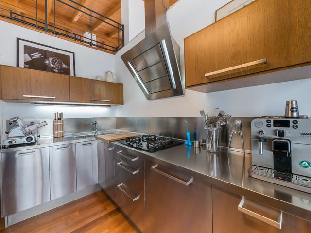 Wood & steel kitchen - Industriale - Cucina - Milano - di Liadesign