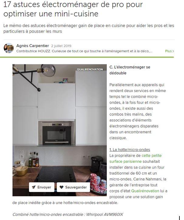 2 juillet 2019- 17 astuces électroménager de pro pour optimiser une mini-cuisine