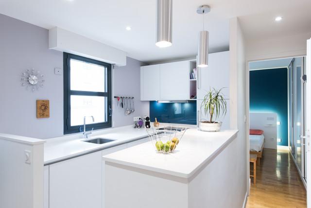 Agencement d 39 une cuisine d 39 angle design moderne finition - Agencement d une cuisine ...
