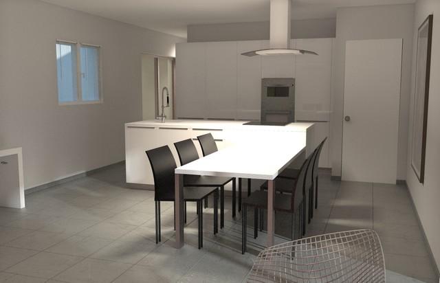 amenagement villa saint bauzely contemporain cuisine montpellier par marien mas decoration. Black Bedroom Furniture Sets. Home Design Ideas