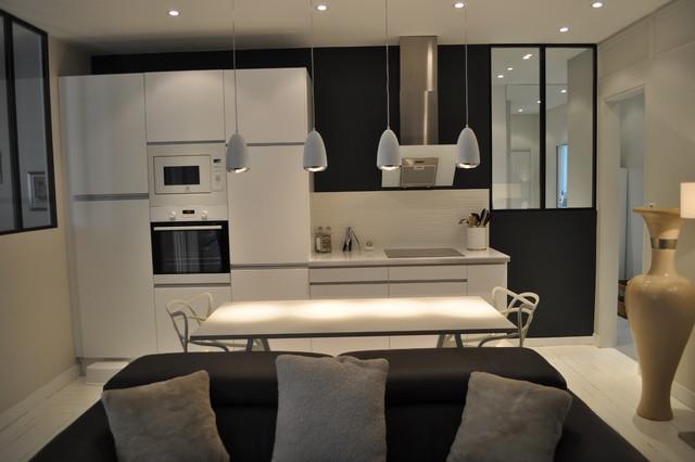 Appartement 3 Pièces Et Fonctionnelle   Cuisine Ouverte Sur Le Salon  Contemporary Kitchen