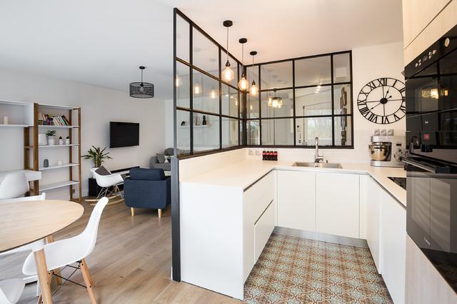 Appartement 90m2 terrasse levallois perret scandinave cuisine