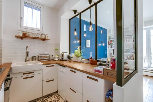appartement bois colombes n rdico cocina par s de montmarin interior design. Black Bedroom Furniture Sets. Home Design Ideas