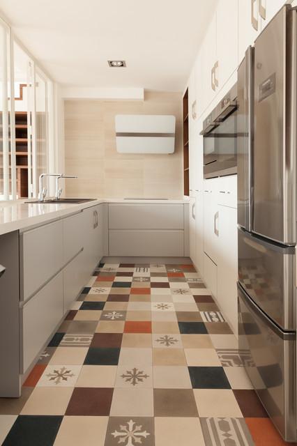 appartement couture contemporain cuisine other metro par aba workshop. Black Bedroom Furniture Sets. Home Design Ideas