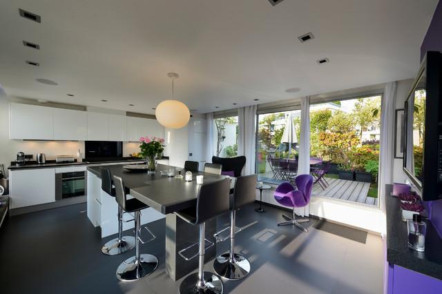 Appartement duplex suresnes contemporain cuisine - Deco appartement duplex contemporain ...