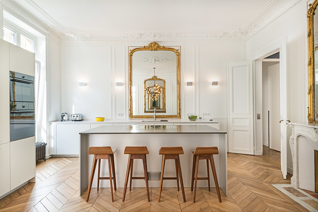 appartement parisien cuisine classique traditional kitchen paris by fran ois guillemin. Black Bedroom Furniture Sets. Home Design Ideas