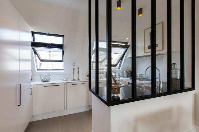 appartement spacieux et lumineux 65m2 cuisine scandinave cuisine paris par philippe. Black Bedroom Furniture Sets. Home Design Ideas