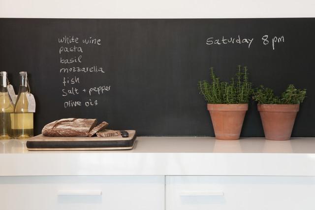 Ardoise adh sive pour cr dence de cuisine chambres d enfants contempora - Stickers credence cuisine ...