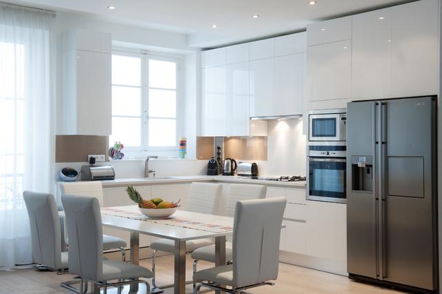 armony cucine finition neige moderne cuisine paris. Black Bedroom Furniture Sets. Home Design Ideas