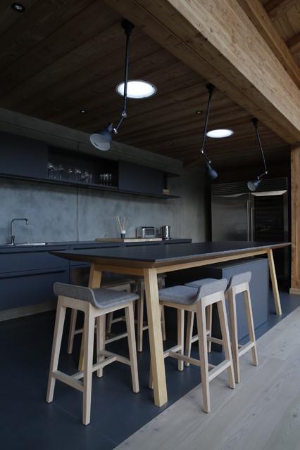 CHALET CONTEMPORAIN PLEIN PIED - Modern - Küche - Lyon - von ...