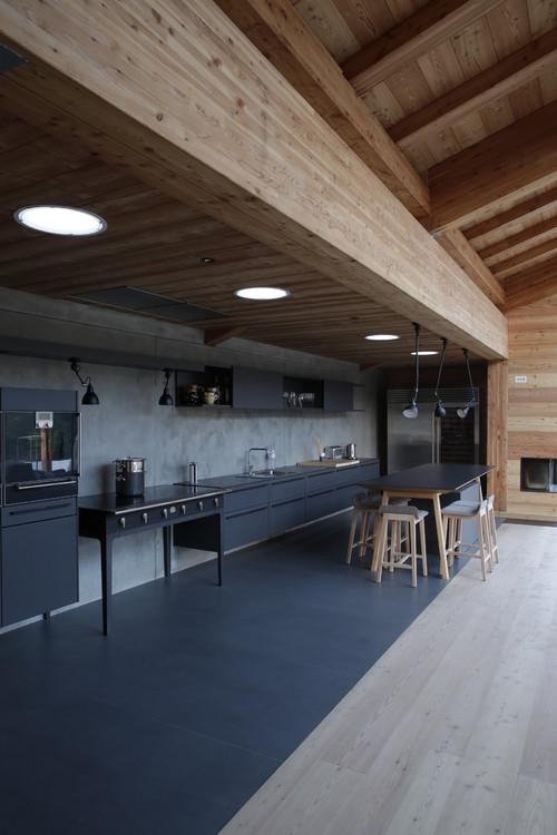Sol d'une cuisine en stratifié
