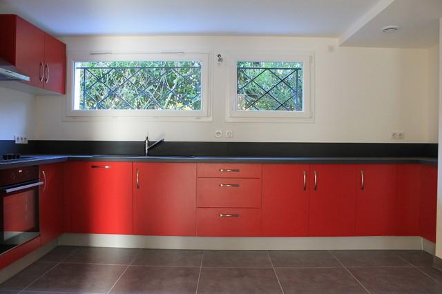 Création d\'une cuisine dans un ancien sous sol - Moderne - Cuisine ...