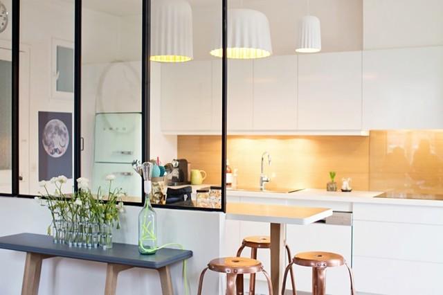 création d'une cuisine ouverte sur la salle à manger - scandinave ... - Cuisine Ouverte Sur Salle A Manger