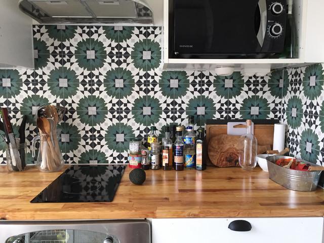 Cr dence d 39 inspiration marocaine carreaux de ciment - Credence carreaux de ciment ...