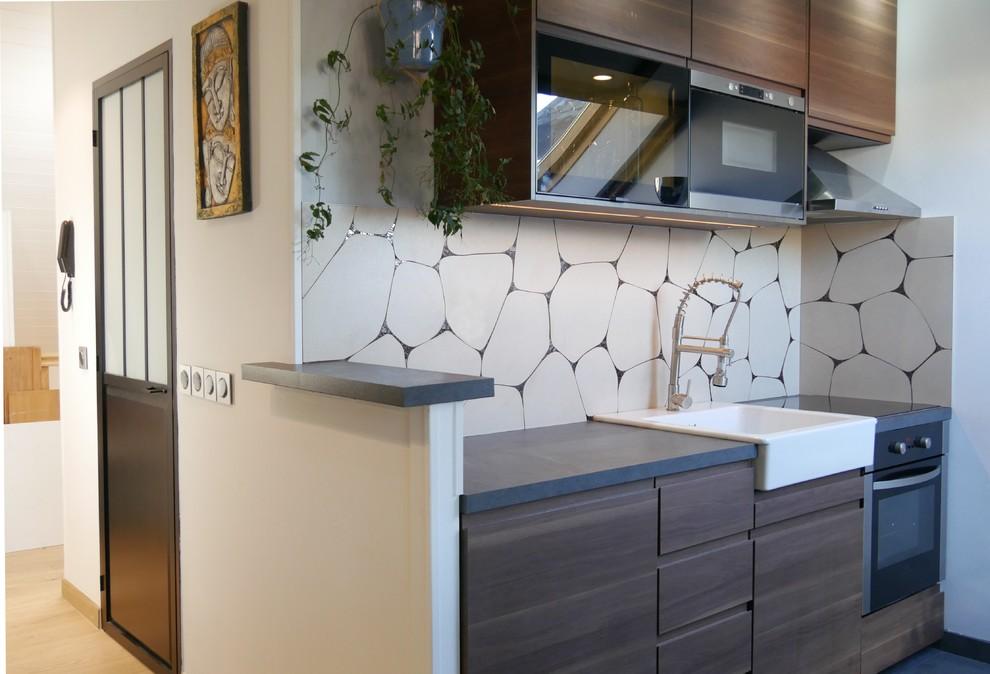 Credence De Cuisine Mosaique Contemporary Kitchen Lyon By