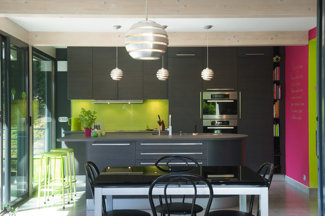 CUISINE ARMONY NATURE ET COLORÉE - Contemporary - Kitchen ...