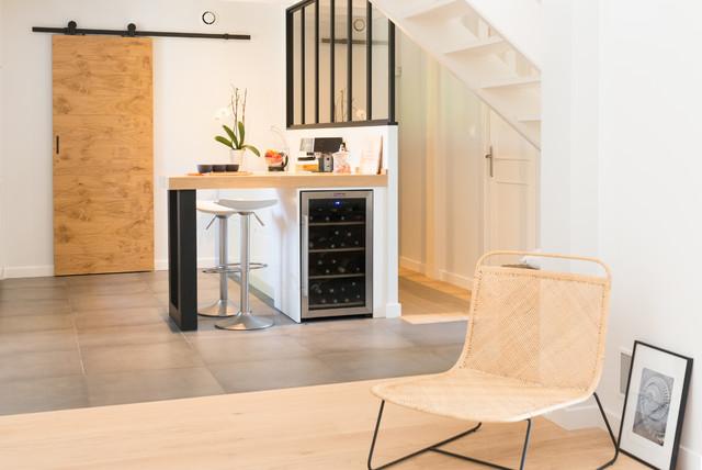 Cuisine au design contemporain - Skandinavisch - Küche ...