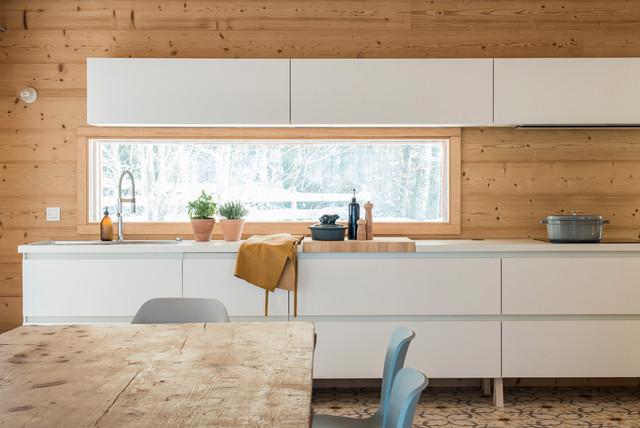 Cuisine Chalet - Contemporary - Kitchen - Lyon - by Café de Balme
