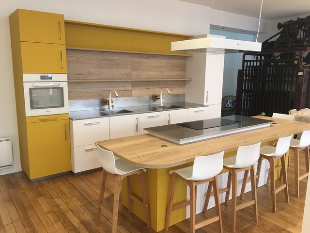 Cuisine Contemporaine Bois Et Couleurs Contemporary Kitchen
