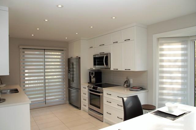 Cuisine contemporaine pure contemporary kitchen montreal by armoires - Armoire contemporaine design ...