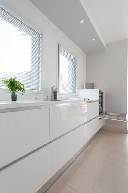 Cuisine Design Gd Cucine Finition Extrême Blanc Modèle Space