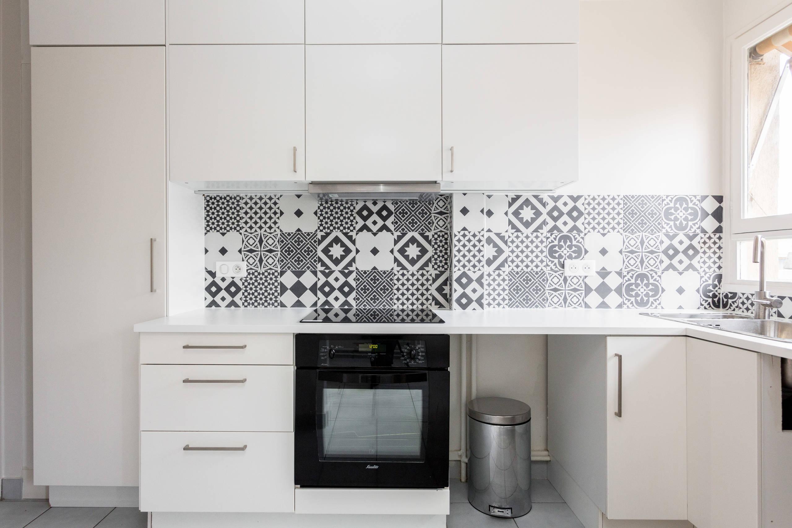 cuisine en noir et blanc