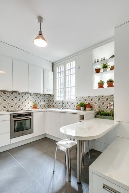 cuisine familiale contemporain cuisine paris par un archi dans ma cuisine. Black Bedroom Furniture Sets. Home Design Ideas