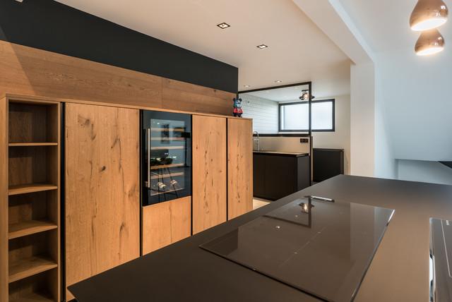 Cuisine Loft Villeurbanne Contemporary Kitchen Lyon