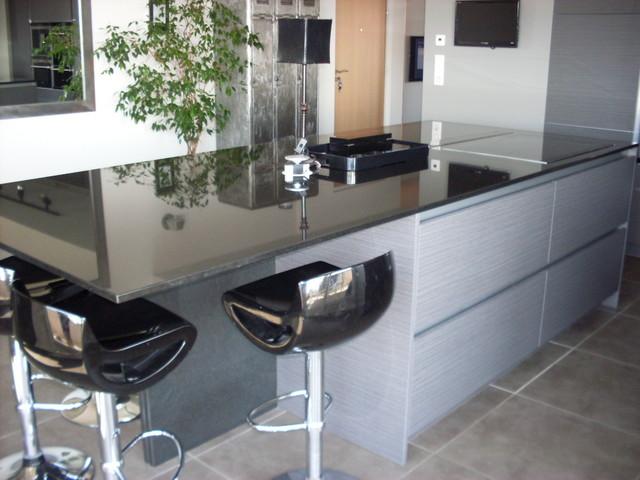 Nouveau cuisine moderne avec ilot central - Moderne - Cuisine - Lyon - par AA-62