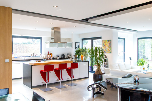 Cuisine Ouverte Du0027une Maison De Ville Contemporary Kitchen