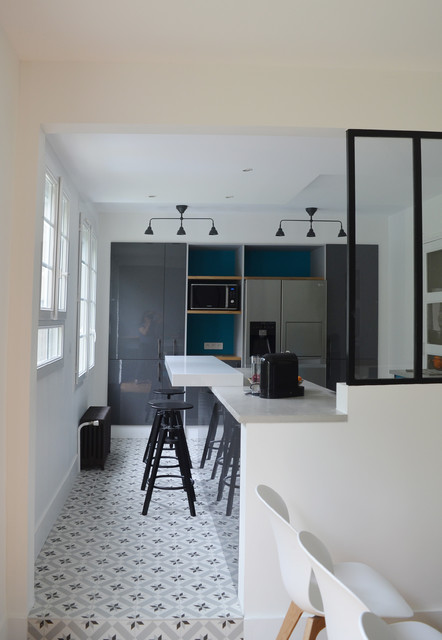 Cuisine ouverte sur salon - Modern - Küche - Paris - von ...