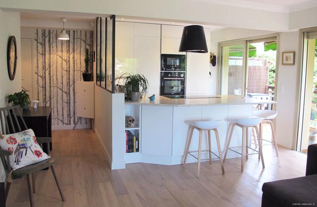 Cuisine ouverture et verri re int rieure contemporain - Ouverture mur cuisine salon ...