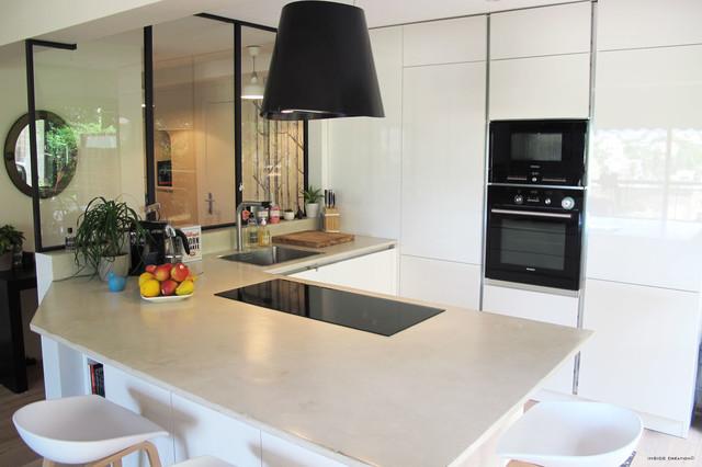 Cuisine ouverture et verri re int rieure contemporain cuisine other met - Verriere dans cuisine ...