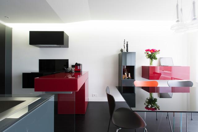 Cuisine, Salon et Chambre thématique Rouge et Noir ...