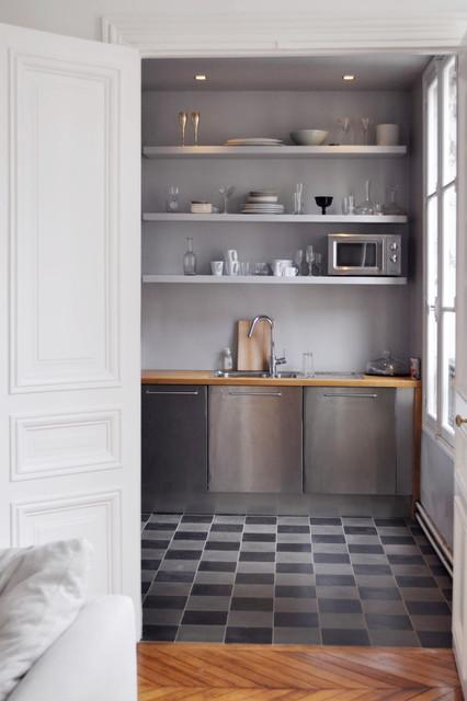 Cuisine Semi Ouverte Sur Salon Contemporary Kitchen Lyon