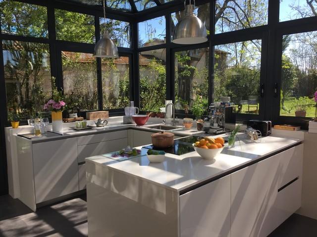 Cuisine sous v randa dans un cadre exceptionnel for Veranda cuisine design