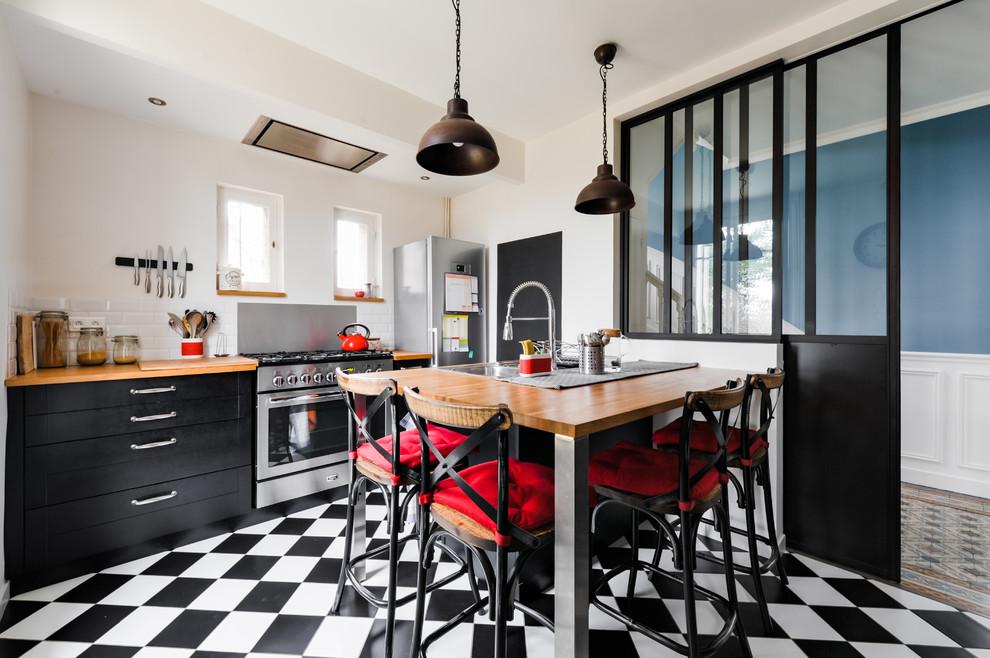 Cuisine Style Atelier Et Vintage Industrial Kitchen Paris