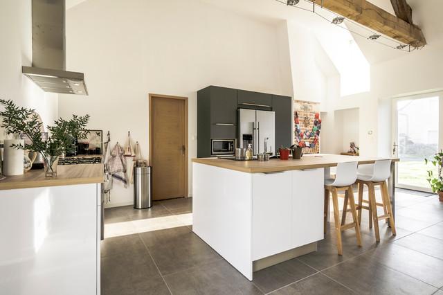 cuisine style nordique avec vaste lot central arthur bonnet tours. Black Bedroom Furniture Sets. Home Design Ideas