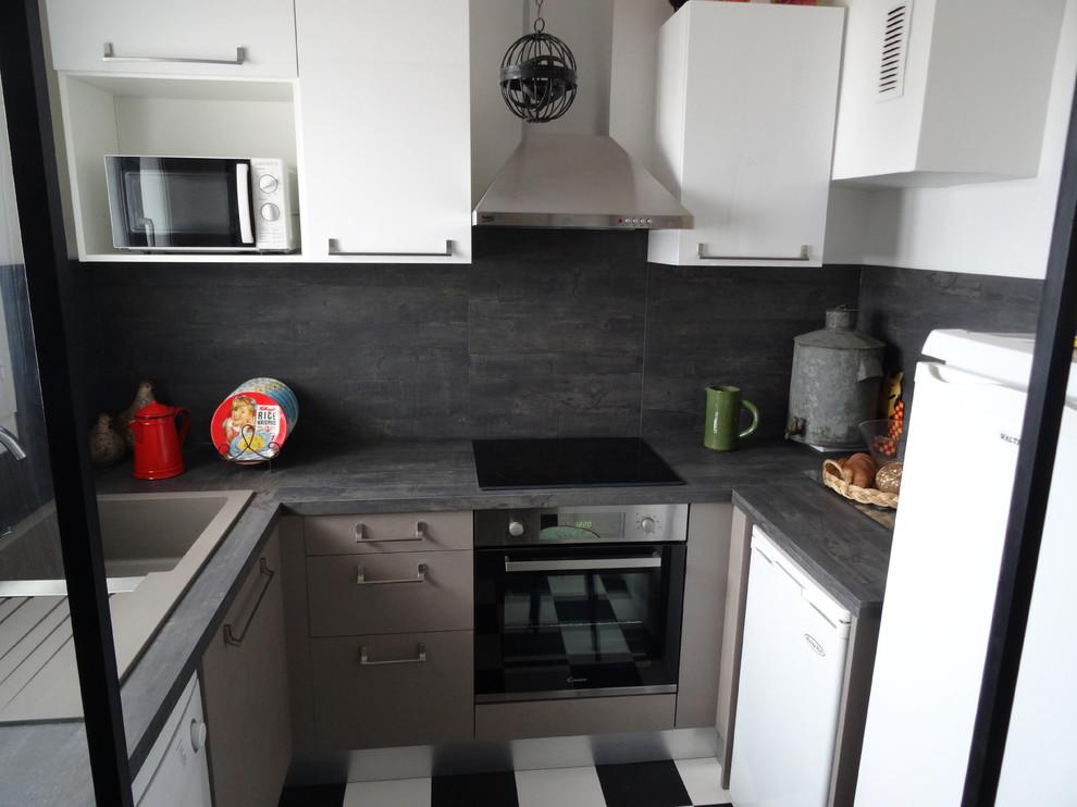 Cuisine Sur Mesure Effet Beton Cire Contemporary Kitchen