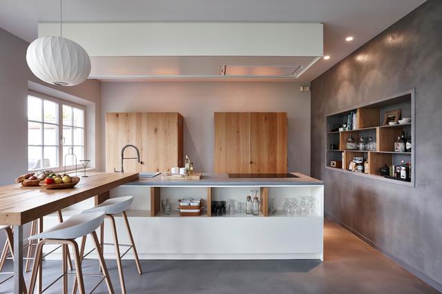 Cuisines en b ton cir contemporain cuisine grenoble for Beton cire mur cuisine