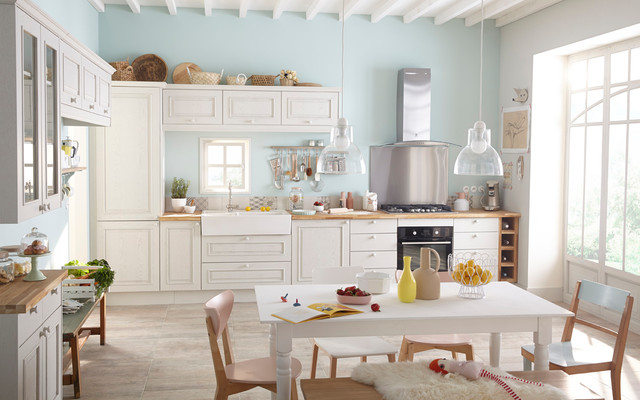 Cuisines Shabby Chic Style Kitchen Lille By Leroy Merlin